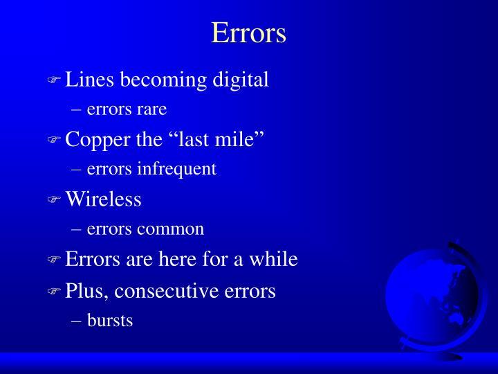 Lines becoming digital