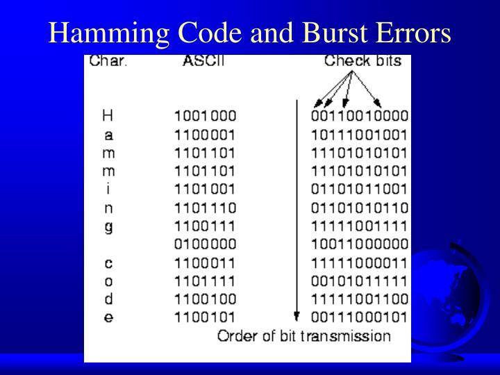 Hamming Code and Burst Errors