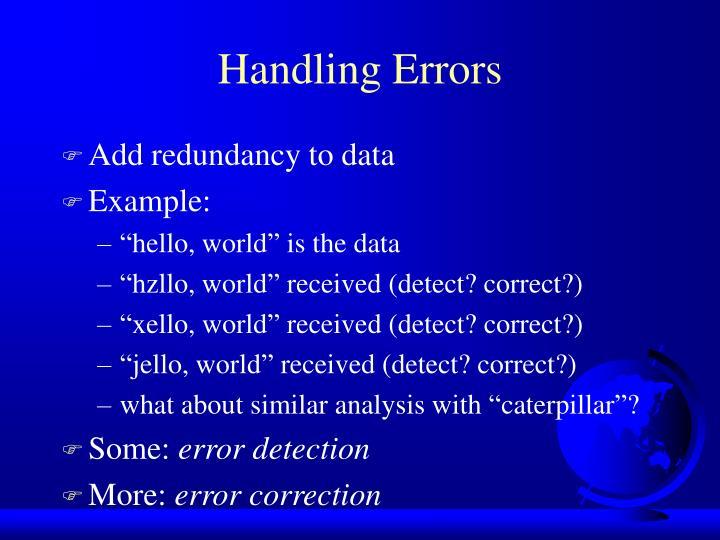 Add redundancy to data