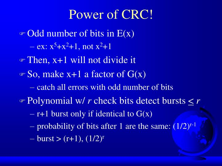 Power of CRC!