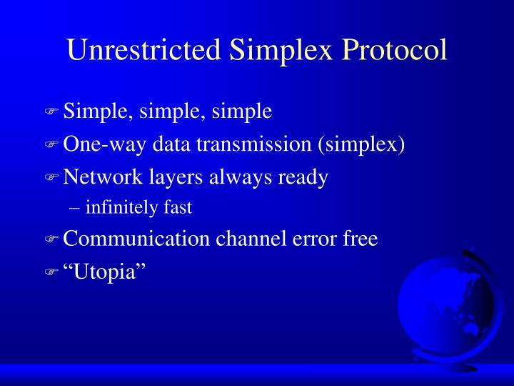 Unrestricted Simplex Protocol