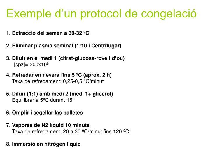 Exemple d'un protocol de congelació