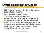 cyclic redundancy check1