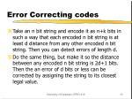 error correcting codes1