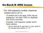 go back n arq issues