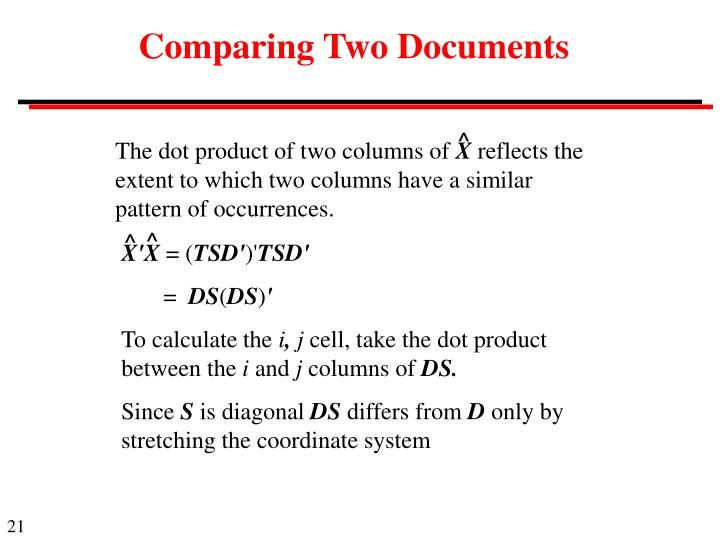 Comparing Two Documents