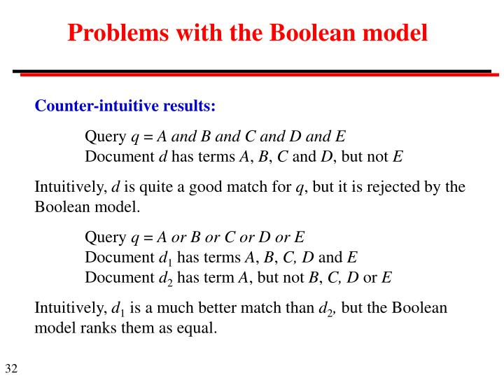Problems with the Boolean model