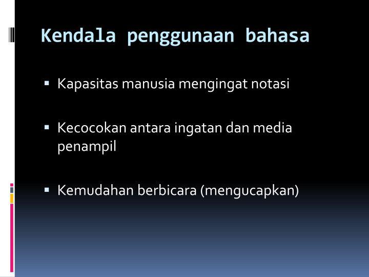 Kendala penggunaan bahasa