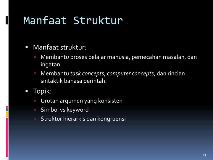 Manfaat Struktur