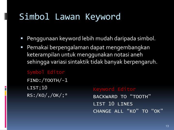 Simbol Lawan Keyword
