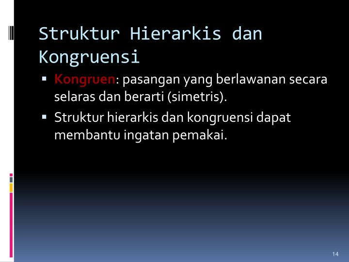 Struktur Hierarkis dan Kongruensi