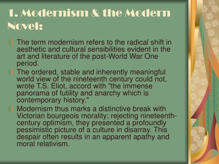 1 modernism the modern novel