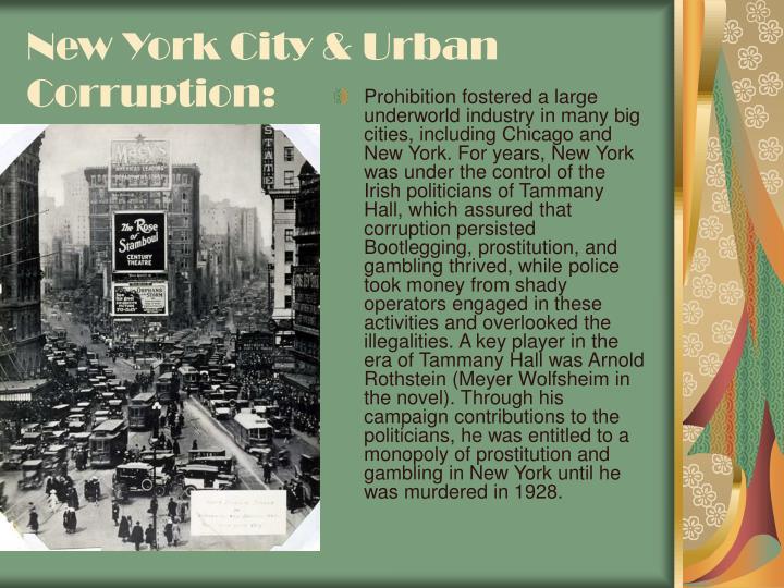 New York City & Urban Corruption: