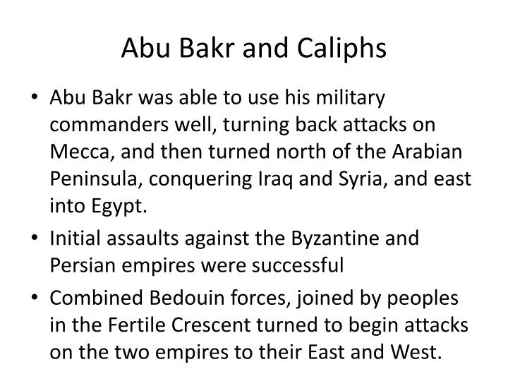 Abu Bakr and Caliphs