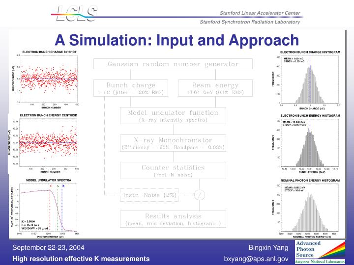 A Simulation: Input and Approach