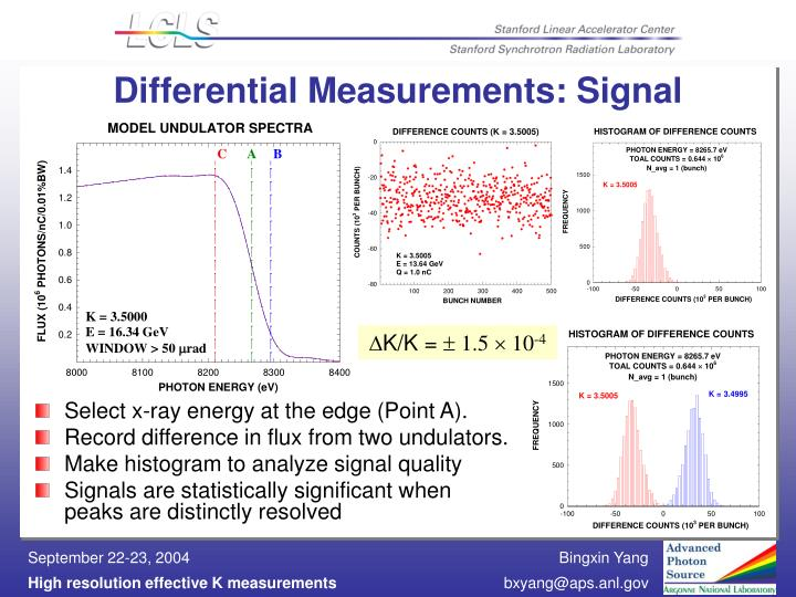 Differential Measurements: Signal