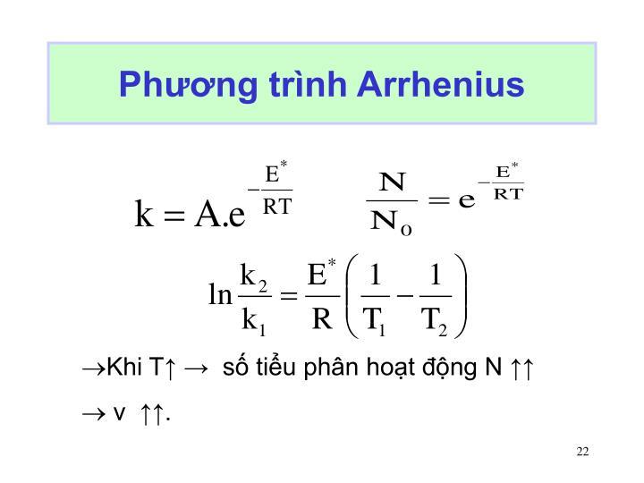 Phương trình Arrhenius