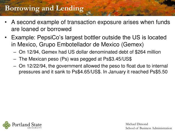 Borrowing and Lending