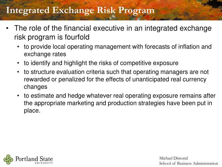 Integrated Exchange Risk Program