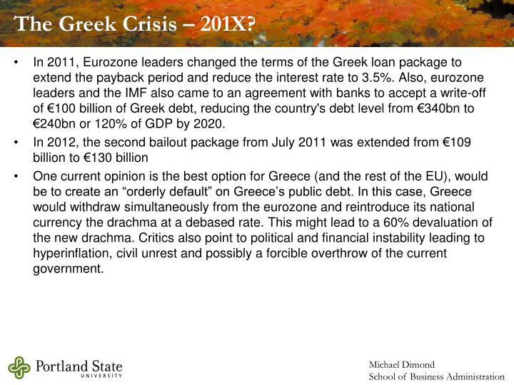 The Greek Crisis – 201X?