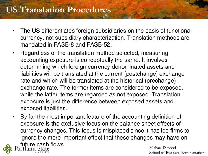 US Translation Procedures
