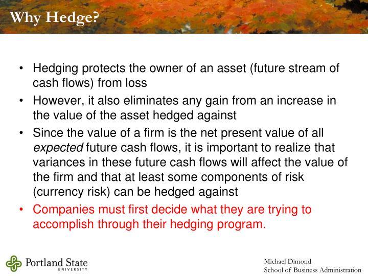 Why Hedge?