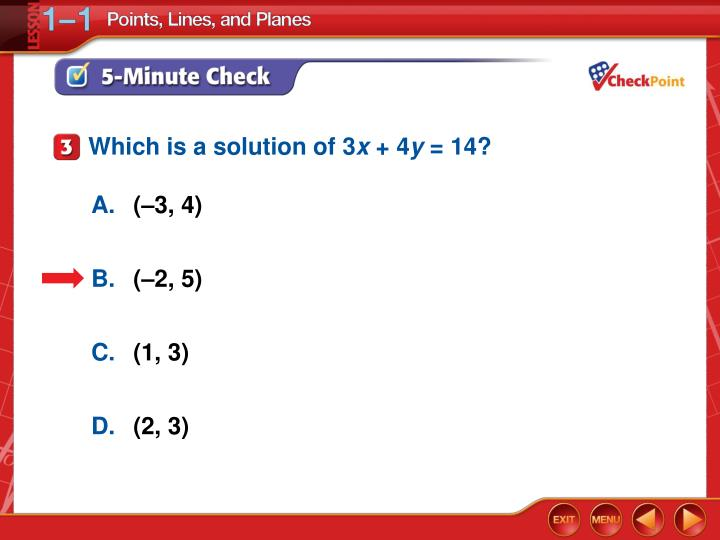 Which is a solution of 3