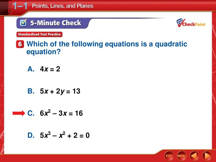 Which of the following equations is a quadratic equation?