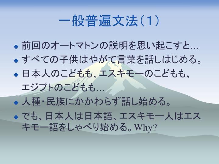 一般普遍文法(1)