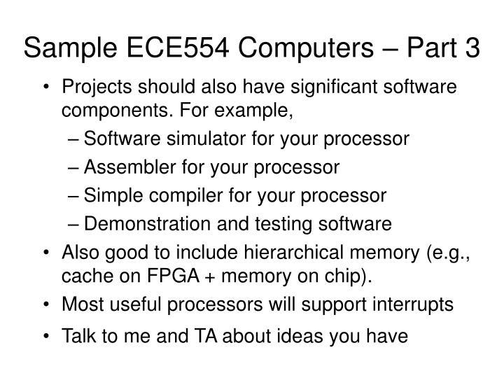 Sample ECE554 Computers – Part 3