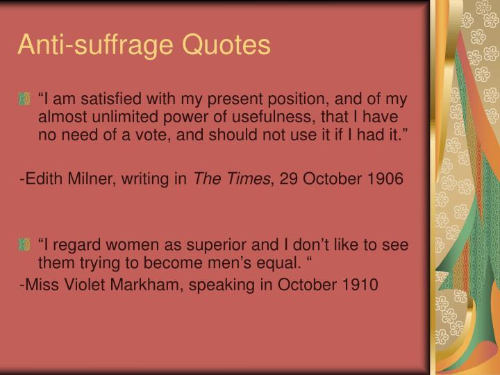 Anti-suffrage Quotes