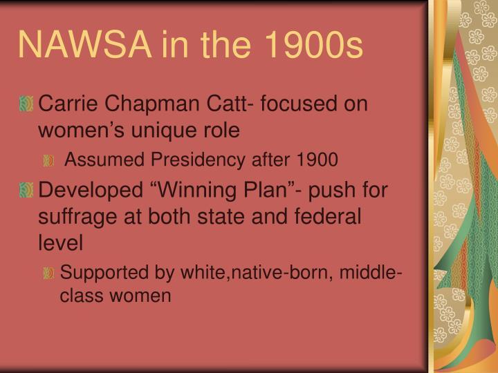 NAWSA in the 1900s