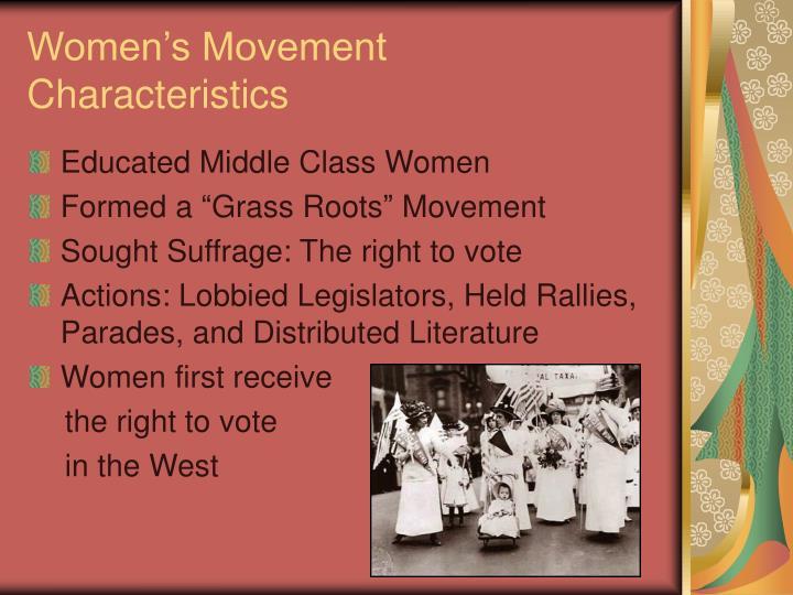 Women's Movement Characteristics
