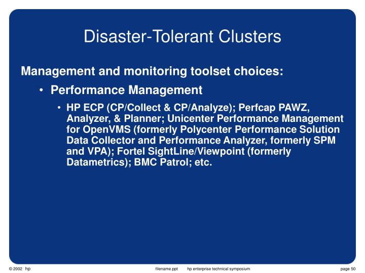 Disaster-Tolerant Clusters