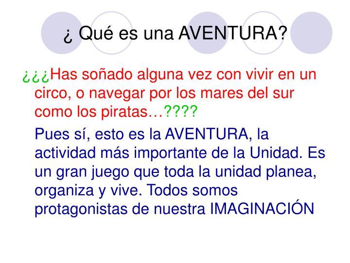 Qu es una aventura