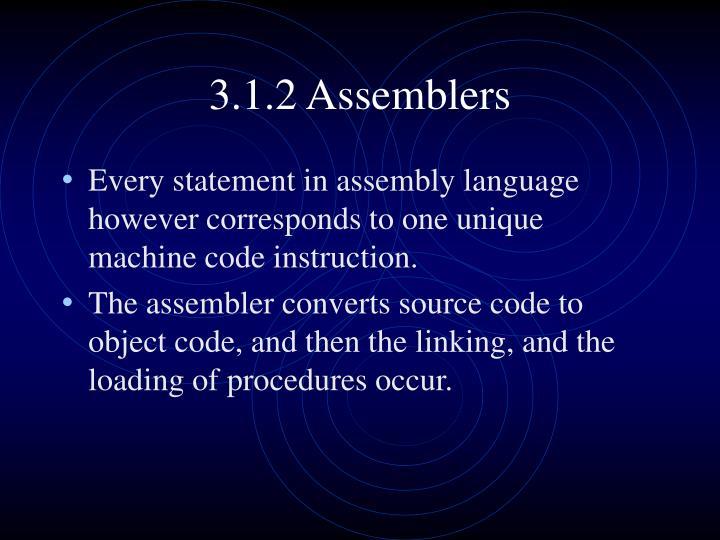 3.1.2 Assemblers