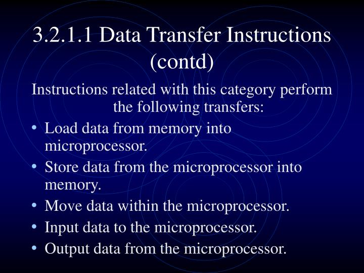 3.2.1.1 Data Transfer Instructions (contd)