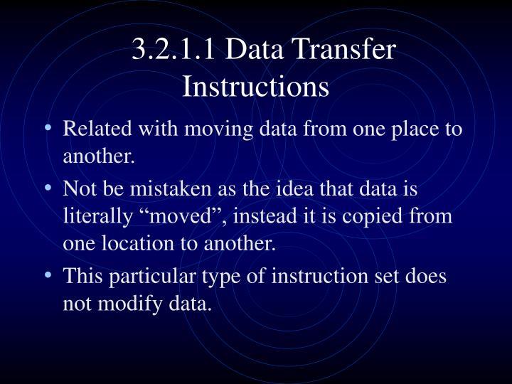 3.2.1.1 Data Transfer Instructions