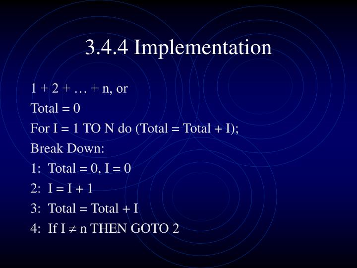 3.4.4 Implementation