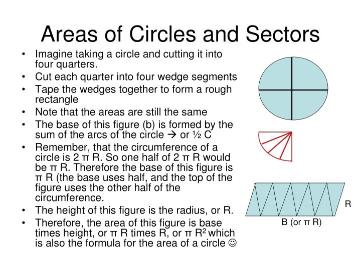 Areas of Circles and Sectors