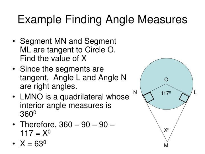 Example Finding Angle Measures