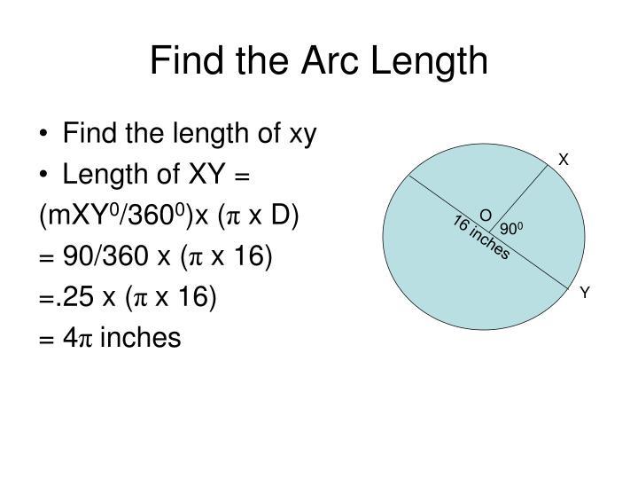 Find the Arc Length