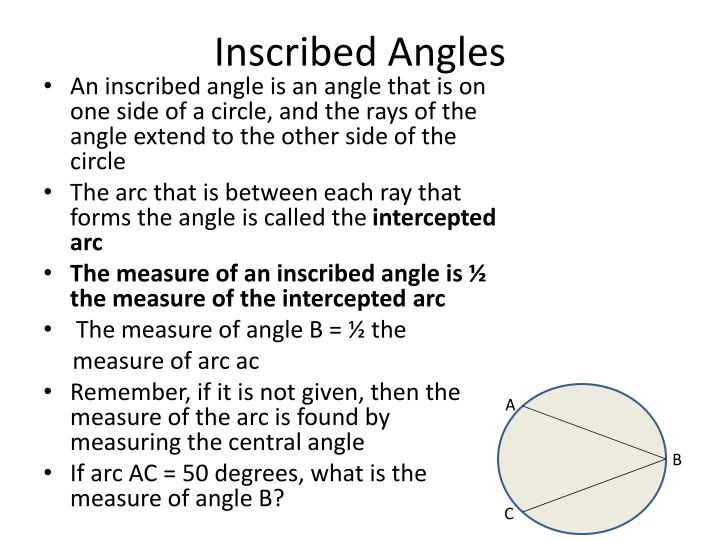 Inscribed Angles