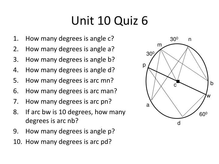 Unit 10 Quiz 6