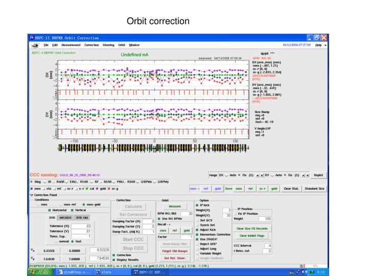 Orbit correction