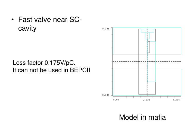 Fast valve near SC-cavity