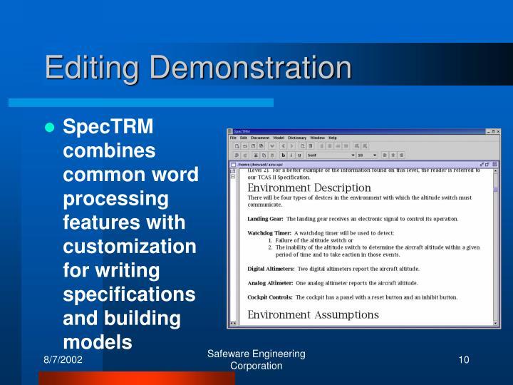 Editing Demonstration