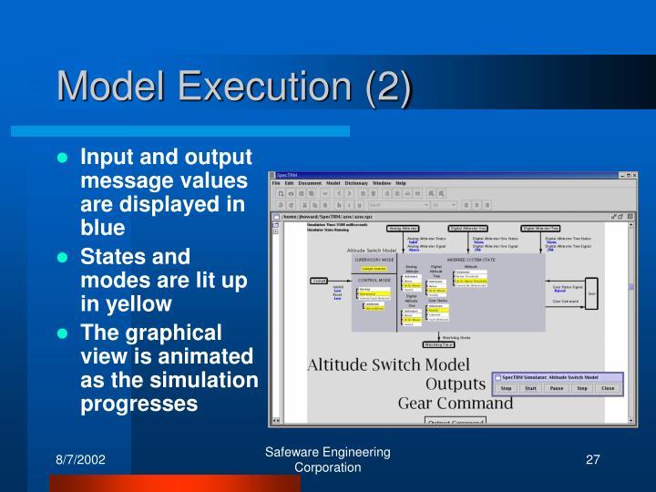 Model Execution (2)