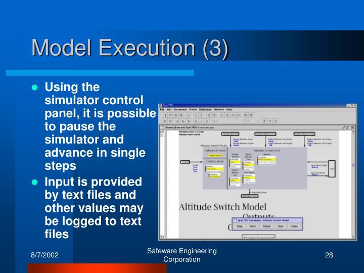 Model Execution (3)
