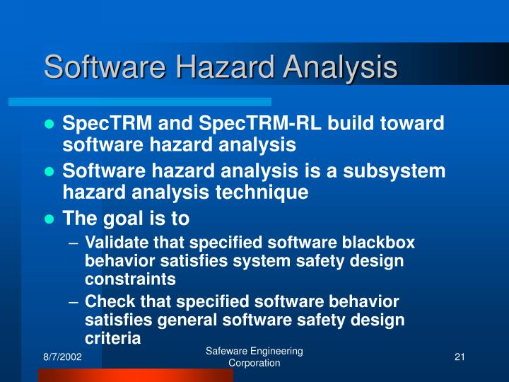 Software Hazard Analysis